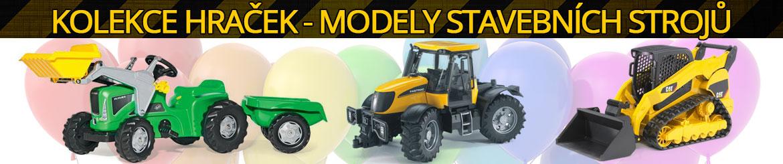 Kolekce hraček - funkční modely stavebních strojů