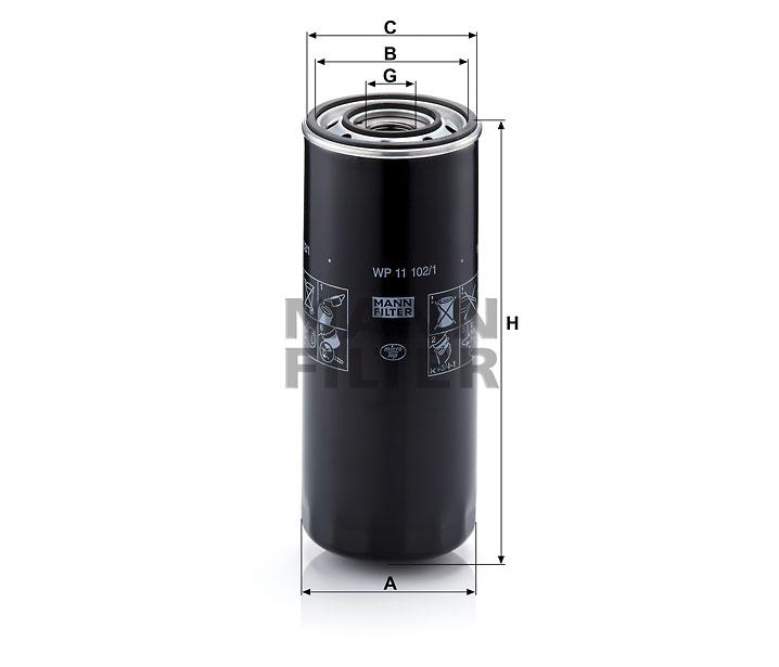 olejový filtr WP11102
